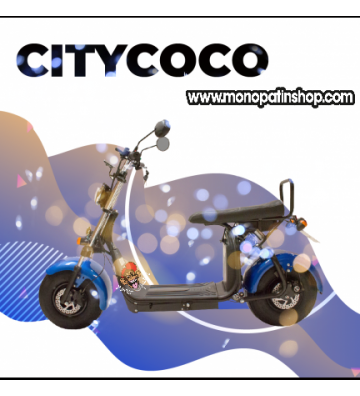 CITYCOCO MATRICULABLE 1.55KW/20AH (DOBLE BATERÍA OPCIONAL) AZUL NEGRO